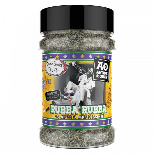 Angus & Oink Rubba Rubba - Jalapeno And Herb Seasoning, 200 g